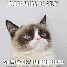 Grumpy Cat Friday Meme - black friday grumpy cat