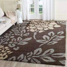 Shaggy Area Rugs Rectangle Dark Brown Shag Area Rugs Rugs The Home Depot