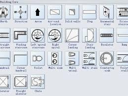 architecture floor plan symbols architectural blueprint symbols elegant architectural floor plan