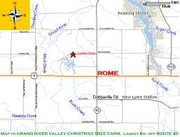 local map grand river valley christmas tree farm u0026 gift shoppe