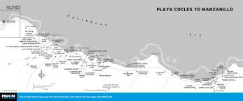 Uva Map Costa Rica U0027s Caribbean Coast Playa Cocles To Punta Uva Moon