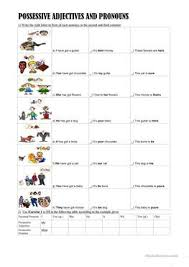14 free esl possessives pronouns worksheets