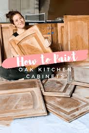 painting wood kitchen cabinet doors how to paint stained oak cabinet doors honey built home