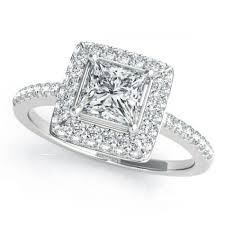 white gold princess cut engagement ring 3 4ct tw halo square princess cut engagement ring in 14k