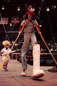 clown stilts mike hillbilly weakley clownlink