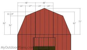 Gambrel Style Roof 12x16 Gambrel Shed Roof Plans Myoutdoorplans Free Woodworking