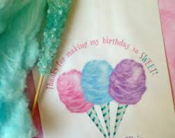 circus birthday party cotton candy cotton candy favor bags