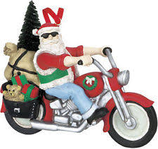 Outdoor Christmas Decorations Motorcycle by Motorcycle Santa Ebay