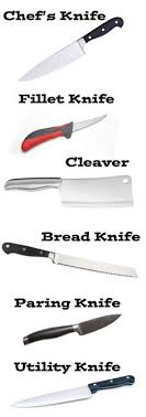 kinds of kitchen knives types of kitchen knives and their uses images different
