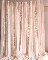Light Pink Curtains For Nursery Gold And Pink Curtains Evideo Me