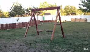 Swing Set For Backyard by How To Build A Wooden Swing Set That Your Kids Will Love