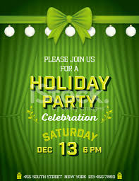 stage curtains christmas holiday party invitation template stock