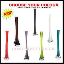 Single Stem Glass Vase Quality Glass Lily Vases With Twist Design 40cm Vase Choose