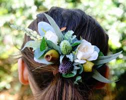 bridal flowers for hair wedding hair accessories etsy