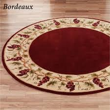 Round Burgundy Rug Grapes And Wine Home Decor Touch Of Class