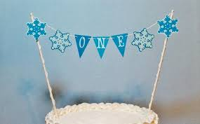 snowflake cake topper snowflake cake topper garland frozen inspired birthday