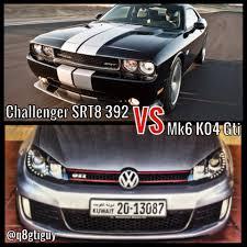 volkswagen kuwait 2013 challenger srt8 392 vs mk6 k04 gti roll 50km h youtube