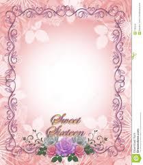 sweet 16 birthday invitation roses stock illustration image 7980549