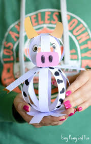 Easy Paper Craft Ideas For Kids - easy paper cow craft farm animal craft ideas easy peasy and fun