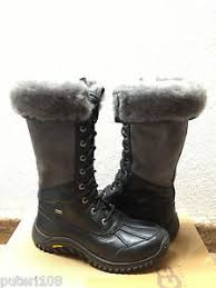 ugg s adirondack ii boots black grey ugg adirondack ii black grey boot us 9 5 eu 40 5 uk 8