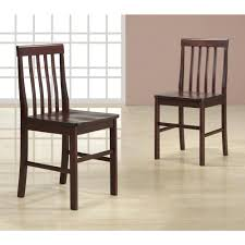 walker edison furniture company abigail espresso wood dining chair