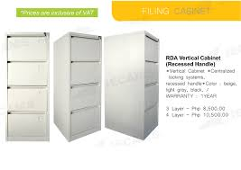 Vertical Filing Cabinets Metal by Jecams Inc Rda Vertical Cabinet Recessed Handle