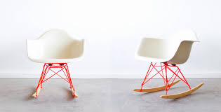 eames rar with custom powder coated rocker base