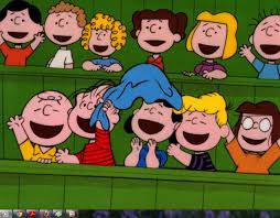 thanksgiving charlie brown quotes charlie brown linus lucy schroeder and marcy are in the stands