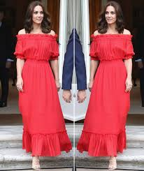 kate middleton the duchess of cambridge wears red for night