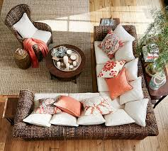 Seagrass Sectional Sofa Seagrass Wingback Armchair Pottery Barn