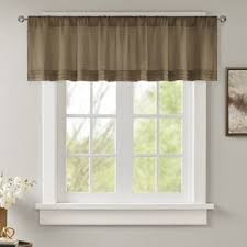 Solid Color Valances For Windows Brown Valances U0026 Kitchen Curtains You U0027ll Love Wayfair