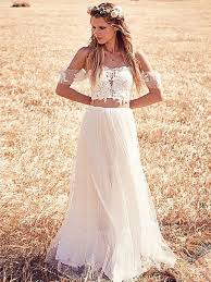 boho wedding dresses 30 jaw droppingly crop top two wedding dresses boho