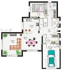 plan maison en u ouvert plan des maisons modernes gratuit en tunisie