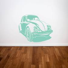 beetle car wall stickers by parkins interiors notonthehighstreet com beetle car wall stickers