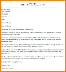 sample cover letters recruitment cover letters letter example