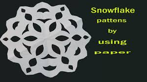 How To Make A Snowflakes Out Of Paper - how to make a simple paper cut out snowflake for beginners easy