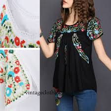 aliexpress com buy vintage 70s scallop ethnic floral mexican