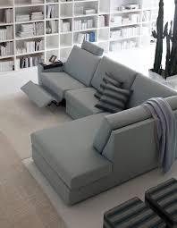 Reclining Fabric Sofa Contemporary Corner Recliner Sofas Catosfera Net