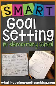 Smart Goals Worksheet For Kids Student Goal Setting In Elementary