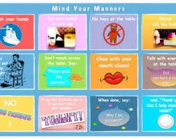 table manners for kids printable mind your manners table manners fork knife placemat
