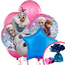 frozen balloons inflated frozen olaf friends bouquet buy helium balloons