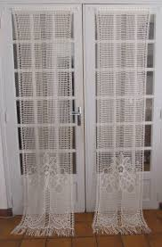 Curtain Door Panels French Door Panels Cotton Lace Curtains Ivory By Hatchedinfrance
