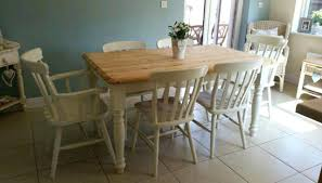 Shabby Chic Dining Table Set Dining Table Shabby Chic Farmhouse Pine Table Chairs Country