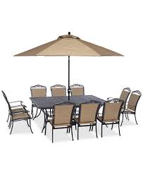 60 Patio Table Beachmont Ii Outdoor 11 Pc Dining Set 84 X 60 Dining Table And