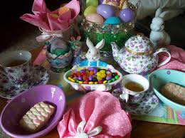 easter tea party the thrifty groove a easter tea party