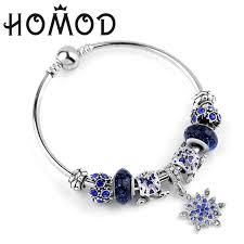 pandora charm bracelet jewelry images Homod simple stars bracelets silver color snowflake pendant jpg