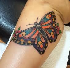traditional butterfly on leg