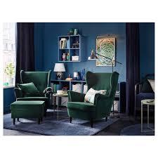 strandmon wing chair nordvalla dark gray ikea