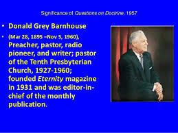donald barnhouse significance of questions on doctrine herbert e douglass