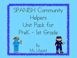 spanish community helpers unit for prek kindergarten or 1st